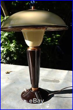 Lampe JUMO 1940 art deco desk lamp design vintage bakelit tischlampe 1950