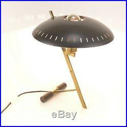 Lampe Noire Vintage En Métal Par Louis Kalff