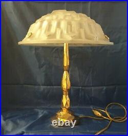 Lampe Période Art Déco Signé Degué