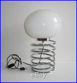 Lampe Ressort Ingo Maurer Grand Modèle Chromé Vintage An 70's
