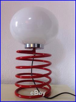 Lampe Ressort Ingo Maurer Grand Modèle Rouge Vintage An 70's