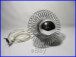 Lampe Ressort Inox Vintage Design Morosini Lazzari Lamp Space Age