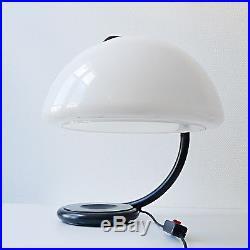 Lampe SERPENTE MARTINELLI LUCE design années 60 70 métal noir blanc vintage