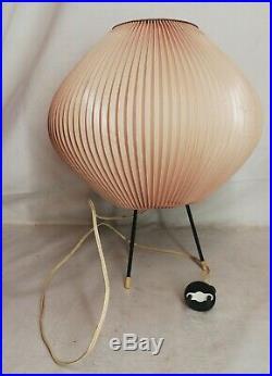 Lampe Tripode Rhodoïd Jean Rispal Vintage Décoration H 28 Cm
