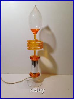Lampe Vintage à ébullition NO paillettes Orange An 70's Vidéo dans l'annonce ²