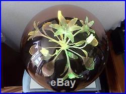 Lampe ambiance fibre optique tournante fleur ball plexi fumé 70's vintage RARE