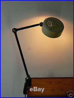 Lampe ancienne atelier industriel usine a étau rotule light industrial/gras
