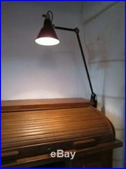 Lampe atelier articulée MAZDA 1921 1950. Industrielle circa GRAS JIELDE