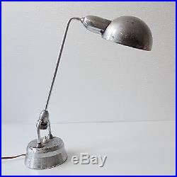 Lampe bureau chromée 1960 design CHARLOTTE PERRIAND vintage moderniste jumo