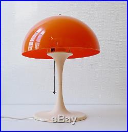 Lampe champignon GEMO type KNOLL tulipe vintage années 60 70 design 1970 orange
