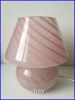 Lampe champignon verre murano rose vintage mushroom vetri pink GAMBARO POGGI