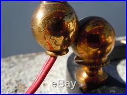 Lampe cocotte tôle laiton vers 1950 cocotte lamp design