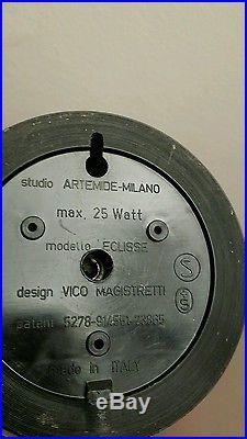 Lampe de bureau lampe eclisse Vico Magistretti vintage années 70 design
