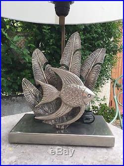 Lampe en bronze argente des années 1970 design