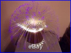Lampe fibre optique verre decoverre 70's vintage rare