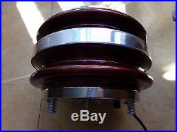 Lampe fibre verre optique tournante fiber optic lamp 70's vintage