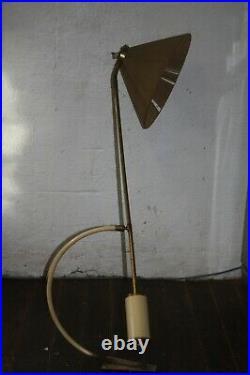 Lampe grande applique potence articulée DIABOLO MATHIEU LUNEL arluce Années 50