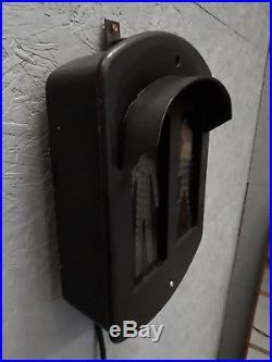 Lampe industrielle feu passage pieton métal noir à mesure de la déco