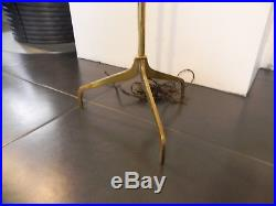 Lampe lampadaire tripode vintage moderniste bronze Bagués Jansen Adnet artdeco