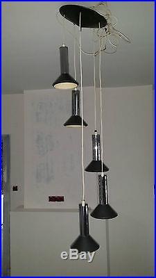 Lampe lustre vintage années 60 70 design