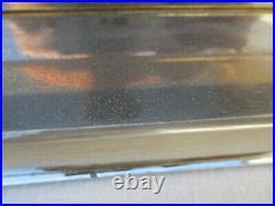 Lampe moderniste metal chrome dore plaque verre laque noir dlg Rizzo Jansen Rega