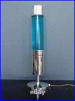 Lampe paillettes bleu CRESTWORTH Décoverre COSMOS vintage 60's 70's RARE
