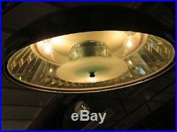 Lampe scialytique 50/60's sur pied contre poids à roulettes