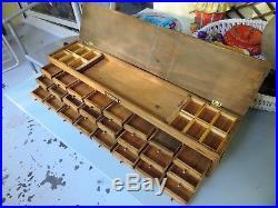 Layette d'horloger meuble de métier ancien Horlogerie Bijoutier tiroirs bois à