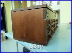 Layette d'horloger petit meuble de métier ancien 12 tiroirs horlogerie bijoutier