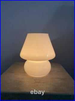 Light Beige pink mushroom lamp glass lampe champignon