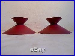 Lot 2 Abats Jour Chapeau Couvercle Lampe Applique Design 1950 Adnet Mategot