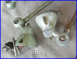 Lot ancienne lampe jielde + bras pièces industrielle atelier usine