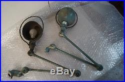 Lot de 2 anciennes lampes d'atelier JIELDE 2 Bras
