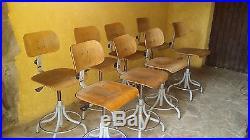 Lot de 8 chaises d'atelier industrielles et 4 chaises tolix vintage deco loft