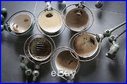 Lot lampe atelier Jielde ancien industriel usine vintage déco loft JLD année 50