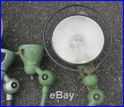 Lot x4 lampe jielde applique lampe industriel usine atelier lentille fresnel