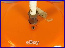 Lustre Design des Années 1970. Plastique Moulé Orange