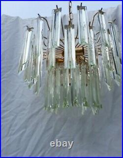 Lustre cristal paolo venini suspension sculpturale Murano vers 1970 vintage lamp