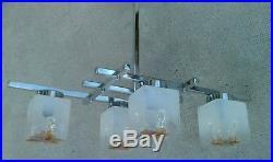 Lustre design 70 chrome verre cubique MAZZEGA MURANO ceiling lamp sciolari