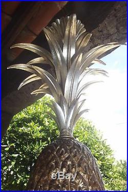 Lustre design vintage ananas en métal maison Charles pineapple chandelier