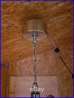 Lustre suspension chromée 6 feux de GAETANO SCIOLARI vintage Design era Knoll