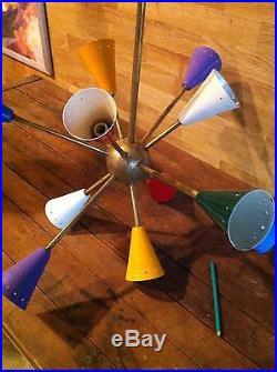 Lustre suspension lampe 50's 1950 vintage design Italien mid century deco xx eme