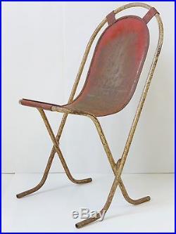 Magnifique Chaise Moderniste Entierement En Metal Vintage 1920 1930 1940 1950