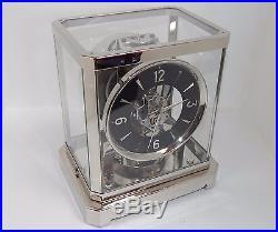 Magnifique horloge pendule (Clock) suisse Atmos Jaeger LeCoultre 1951 Nickel