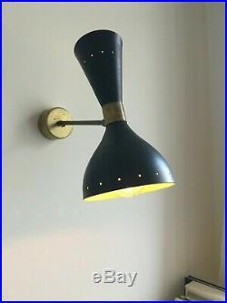 Magnifique paire d'applique de design 50s Stilnovo style wall sconces