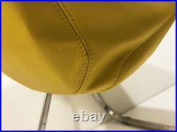 Magnifique paire de Fauteuil cuir Jaune PLONA G. C. PIRETTI Vintage An 70's