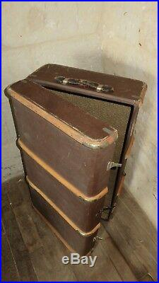 Malle De Voyage Voiture Ancienne Bagage Vintage Luggage Travel Shipping Trunk