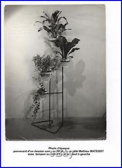 Matégot Porte-Plantes Rigitulle et métal noir, 1950