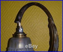 Maurice Dufrene Rare Lampe En Bronze Epoque Art Nouveau