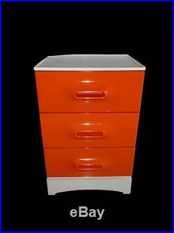 Meuble Chiffonnier Orange Prisunic En bon état Vintage An 70's